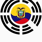 Korean Ecuadorian Multinational Patriot Flag Series by Carbon-Fibre Media