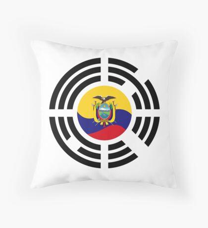 Korean Ecuadorian Multinational Patriot Flag Series Throw Pillow