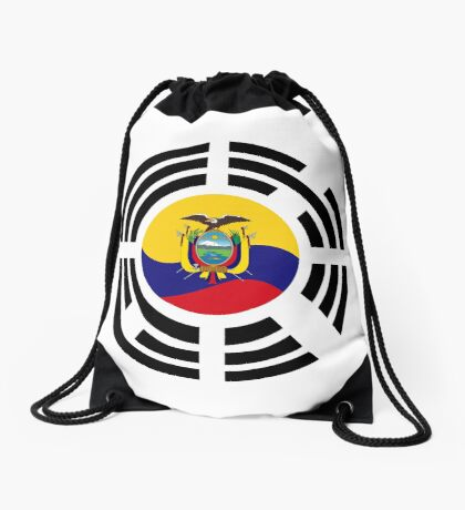 Korean Ecuadorian Multinational Patriot Flag Series Drawstring Bag