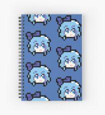 Pixel Cirno Spiral Notebook