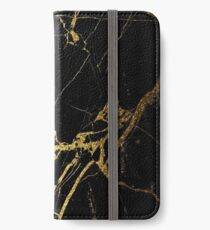 Black and Gold Marble  iPhone Wallet/Case/Skin