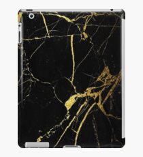 Black and Gold Marble  iPad Case/Skin