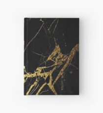 Black and Gold Marble  Hardcover Journal