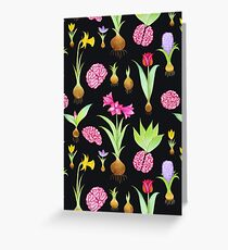 Spring Bulbs and Brains  Greeting Card