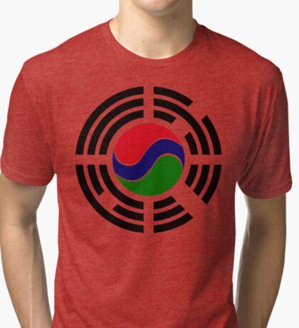 Korean Gambian Multinational Patriot Flag Series Tri-blend T-Shirt