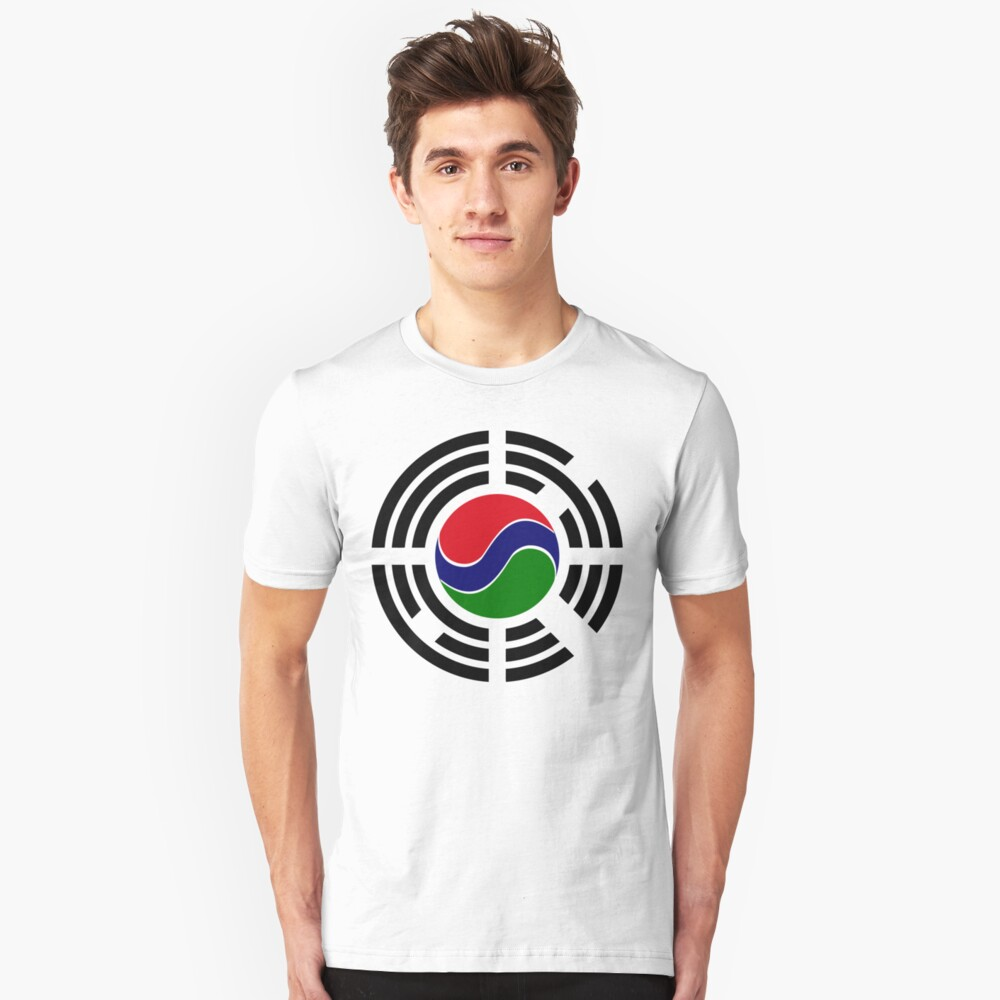 Korean Gambian Multinational Patriot Flag Series Slim Fit T-Shirt