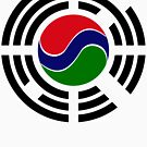 Korean Gambian Multinational Patriot Flag Series by Carbon-Fibre Media