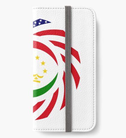 Tajik American Multinational Patriot Flag Series iPhone Wallet
