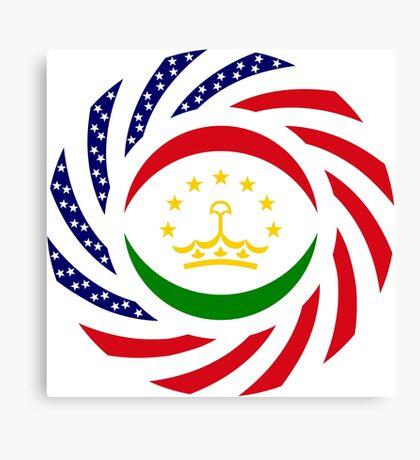 Tajik American Multinational Patriot Flag Series Canvas Print