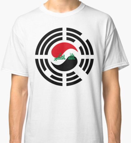 Korean Iraqi Multinational Patriot Flag Series Classic T-Shirt