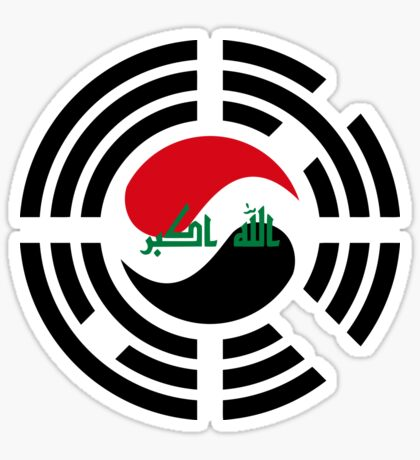 Korean Iraqi Multinational Patriot Flag Series Sticker