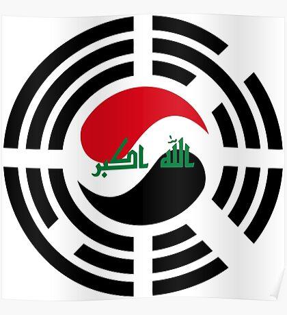 Korean Iraqi Multinational Patriot Flag Series Poster