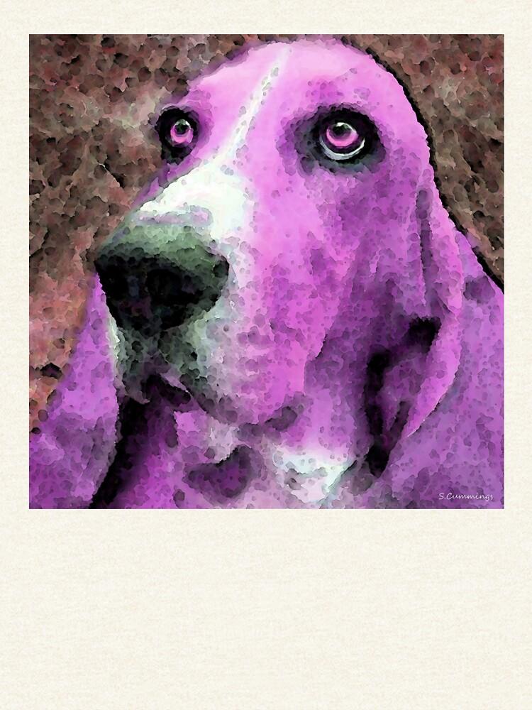 Basset Hound - Pop Art Pink by SharonCummings