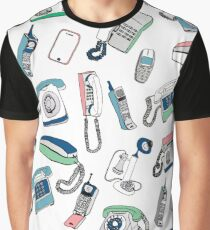 Vintage telephones drawing Graphic T-Shirt