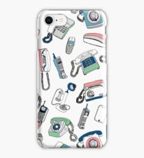 Vintage telephones drawing iPhone Case/Skin