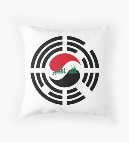 Korean Iraqi Multinational Patriot Flag Series Throw Pillow