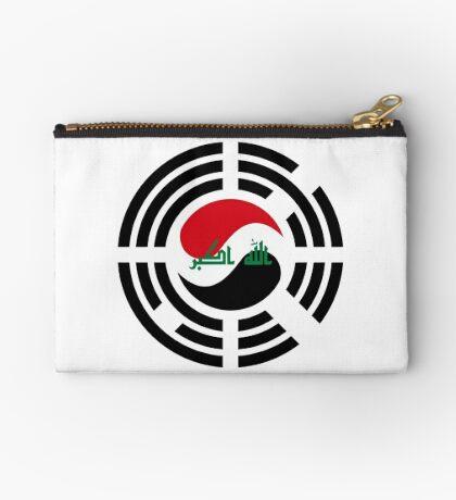 Korean Iraqi Multinational Patriot Flag Series Zipper Pouch