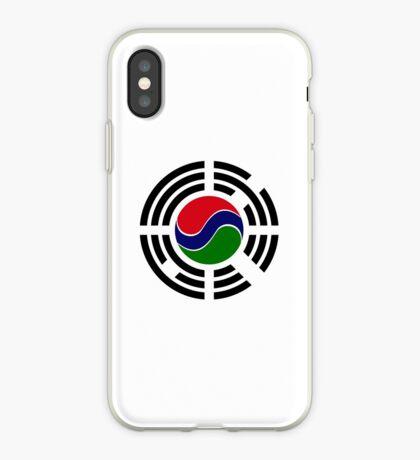 Korean Gambian Multinational Patriot Flag Series iPhone Case