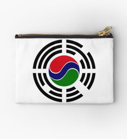 Korean Gambian Multinational Patriot Flag Series Zipper Pouch