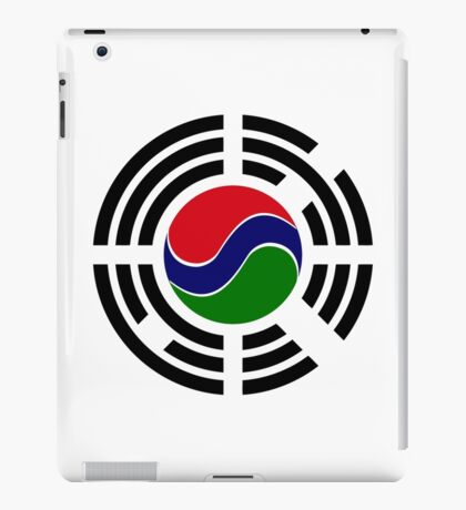 Korean Gambian Multinational Patriot Flag Series iPad Case/Skin