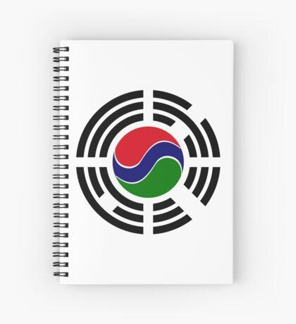 Korean Gambian Multinational Patriot Flag Series Spiral Notebook
