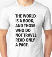 The world is a book (white background) T-Shirt