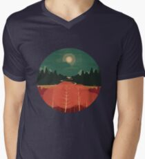Midday Mountains Men's V-Neck T-Shirt