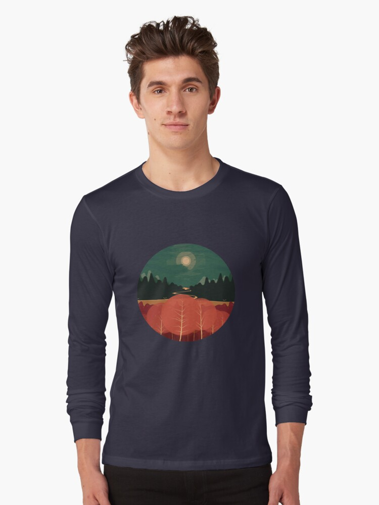 Midday Mountains Long Sleeve T-Shirt Front