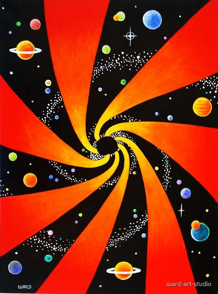 HYPNOTIC SPIRAL GALAXY by ward-art-studio