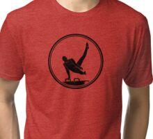 Mens Gymnastics Tri-blend T-Shirt
