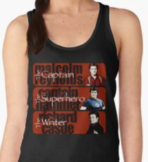 The Captain, The Superhero, and The Writer Women's Tank Top
