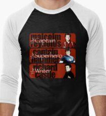 The Captain, The Superhero, and The Writer Men's Baseball ¾ T-Shirt