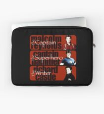 The Captain, The Superhero, and The Writer Laptop Sleeve