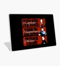 The Captain, The Superhero, and The Writer Laptop Skin