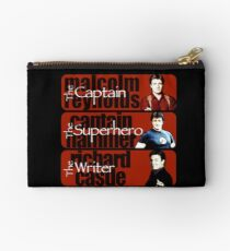 The Captain, The Superhero, and The Writer Studio Pouch