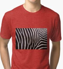 Zebra Patterns in Black and White.... Tri-blend T-Shirt