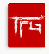 TFG brush white Canvas Print