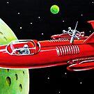 X-300 SPACE ROCKET by ward-art-studio