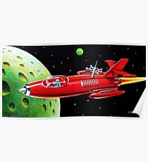 X-300 SPACE ROCKET Poster