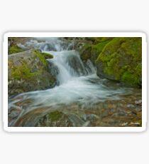 Waterfall on Crystal Creek Sticker
