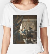 Johannes Vermeer - The Art of Painting 1666 - 1668 Women's Relaxed Fit T-Shirt
