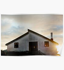 Quiet House at sunset Poster