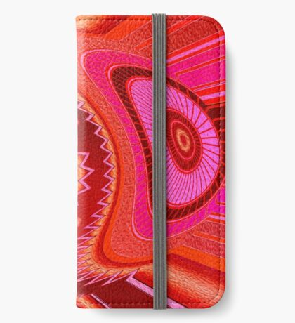 Grasshopper Love Abstract  iPhone Wallet