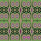 Colorful Cactus Repeat Pattern by LouisaCatharine