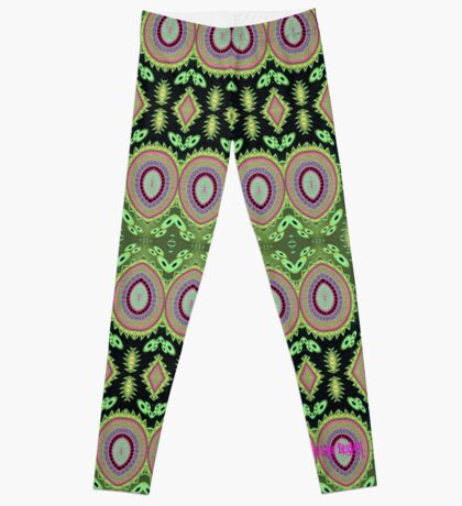 Colorful Cactus Repeat Pattern Leggings