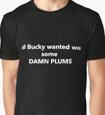 DAMN PLUMS Graphic T-Shirt