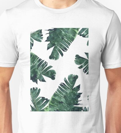 Banana Leaf #Watercolor Pattern #redbubble Unisex T-Shirt