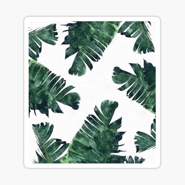 Banana Leaf #Watercolor Pattern #redbubble Sticker