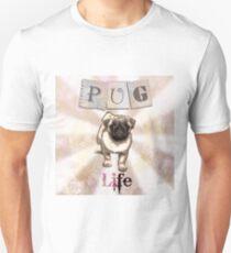 Pink Pug Life Design Unisex T-Shirt