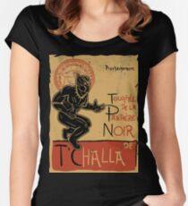 tournee de la panthere noir Women's Fitted Scoop T-Shirt